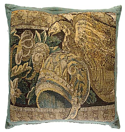 SIX TAPESTRY CUSHIONS