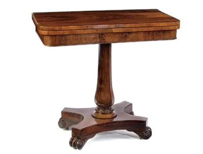 AN EARLY VICTORIAN ROSEWOOD CA