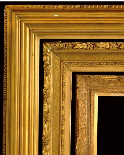 THREE VICTORIAN GILTWOOD AND C