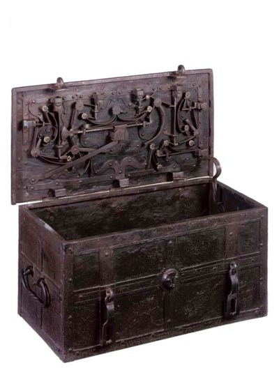 A GERMAN IRON ARMADA CHEST