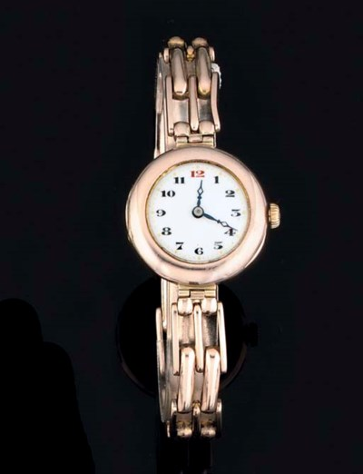 Rolex. A Lady's 9ct Pink Gold