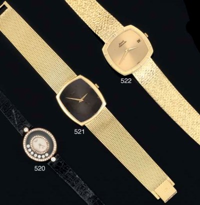 Piaget. An 18ct Gold Cushion s