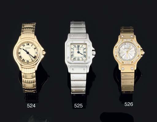 Cartier. A Lady's 18ct Gold Qu