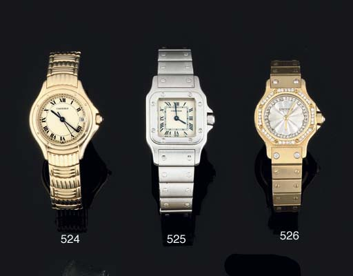 Cartier. A Lady's 18ct Gold an