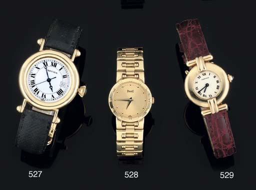 Cartier. An 18ct Gold Quartz W