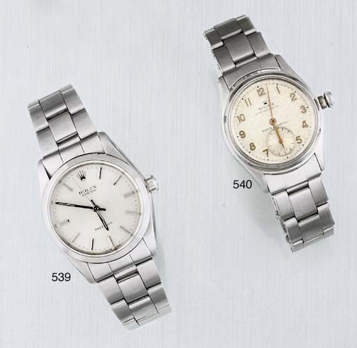 Rolex. A Stainless Steel Centr