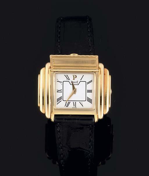 Piaget. An 18ct Gold, Quartz W