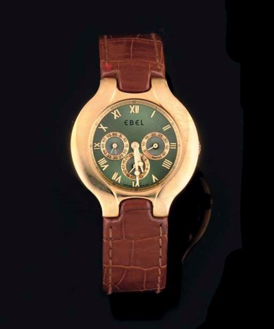 Ebel. An 18ct Gold Automatic W