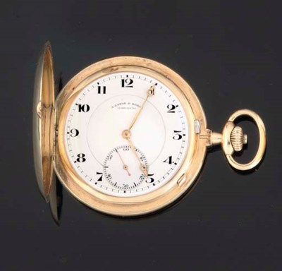A Lange & Sohne. An 18ct Gold