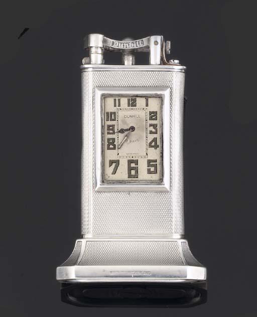 Dunhill. A Rare Silver Petrol