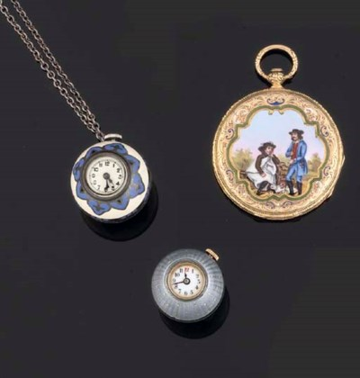 A Group of Three Pendant Watch