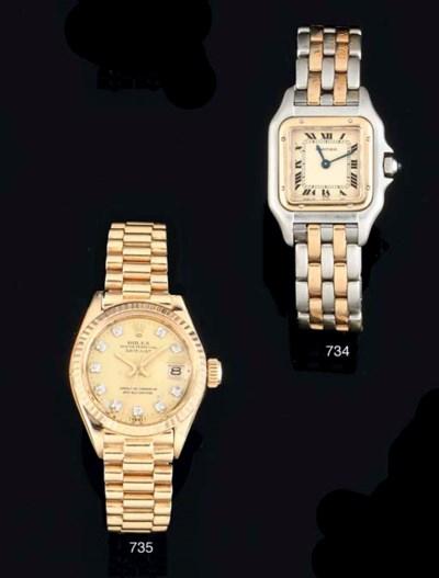 Rolex. A Lady's 18ct Gold Auto