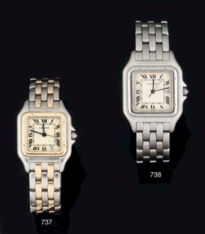 Cartier. A Stainless Steel and