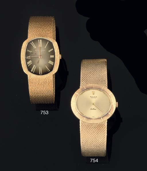 Rolex. An 18ct Gold Oval Cased