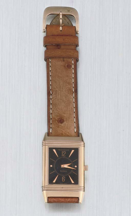 Jaeger LECoultre. An 18ct Pink