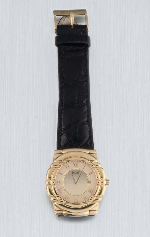 Piaget. An 18ct Gold Quartz Wr