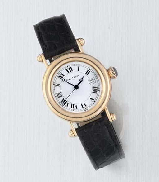 Cartier. An 18ct Gold Quartz C
