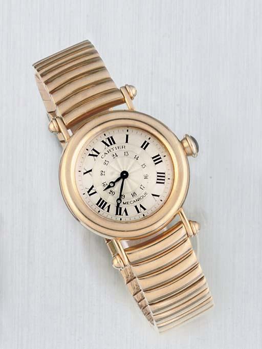 Cartier. An 18ct Gold Circular