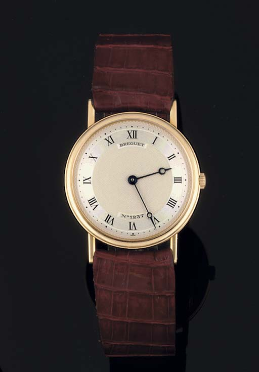 Breguet. An 18ct Gold Circular