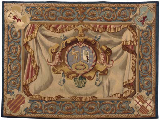 AN UNUSUAL ARMORIAL TAPESTRY,