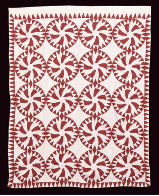 A RED AND WHITE PATCHWORK SUMM