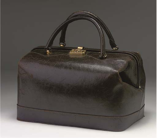A CHOCOLATE BROWN LEATHER SATC