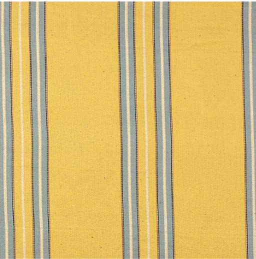 A BOLT OF BLUE AND YELLOW STRI