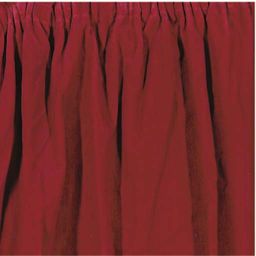 TWO PAIR OF RED PLUSH CURTAINS
