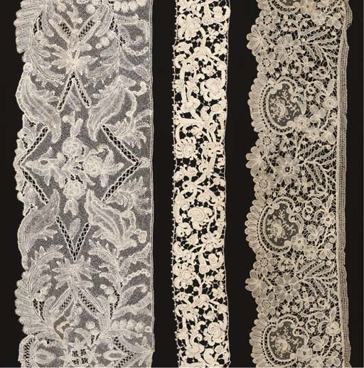 A COLLECTION OF LACE INCLUDING