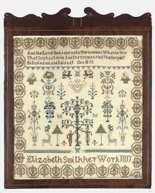 A SAMPLER BY ELIZABETH SMITH,