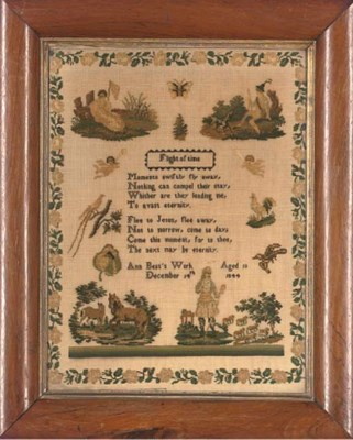 TWO SAMPLERS BY ANN BEST AND C