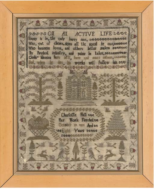 A SAMPLER BY CHARLOTTE HALL, D