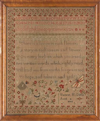 A SAMPLER BY MARGRET H GIBSON,