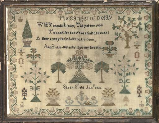 A SAMPLER BY SARAH FIELD, DATE