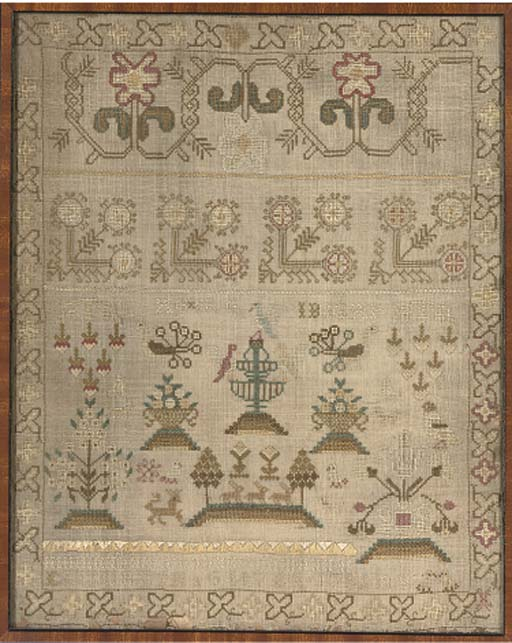 FOUR SAMPLERS DATED 1782, 1821