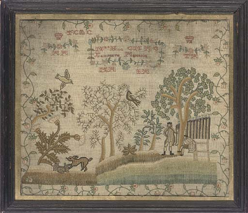 AN 18TH CENTURY SILKWORK PICTU