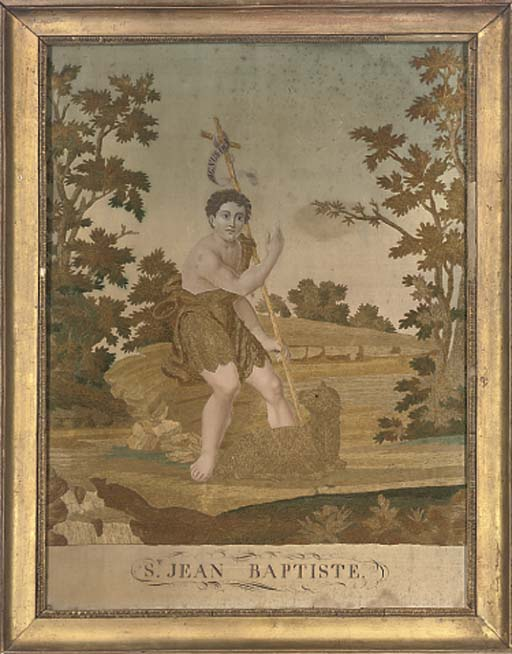 A SILKWORK PICTURE OF JOHN THE