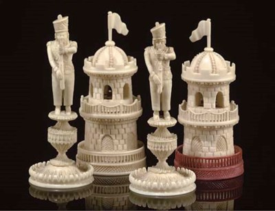 A GROUP OF FOUR INDIAN CARVED