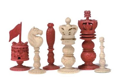 A CHINESE-EXPORT CARVED 'BURME