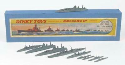 A pre-war Dinky Set 50 Ships o