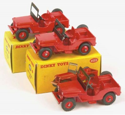 Dinky 405 Universal Jeeps