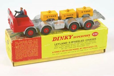 A Dinky red and silver 936 Ley