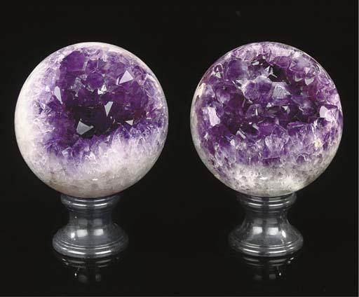 A large pair of agate and amet