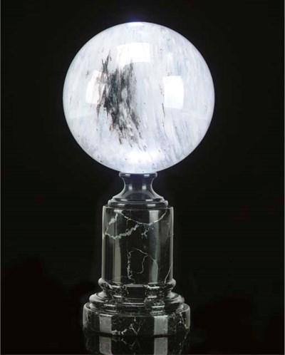 A rare included quartz sphere,