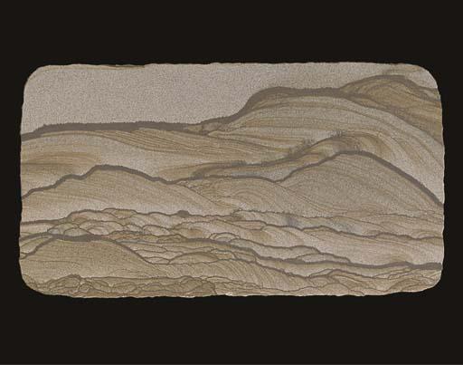 A natural sandstone