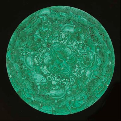A composite malachite table to
