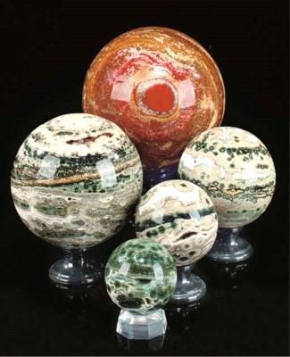 A fine group of five ocean jas