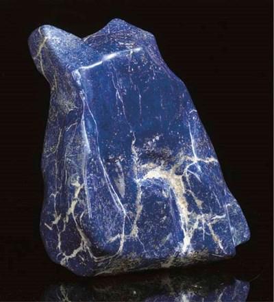 A large lapis lazuli freeform,