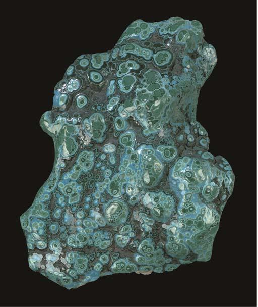 A fine malachite/chrysocolla f