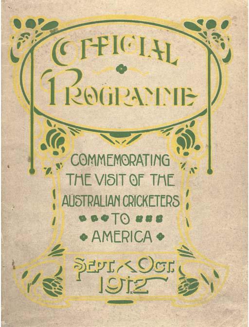 AUSTRALIAN TOUR, 1912